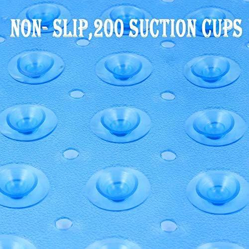 100 x 40 cm blau transparent rutschfest Sicherheitsvorleger Badewanneneinlage mit 200 Saugn/äpfen Domowin Badewanneneinlage