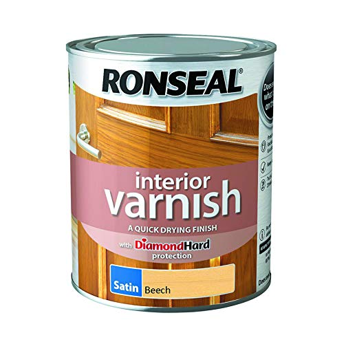 - Ronseal Interior Varnish Quick Dry Satin Beech 750ml