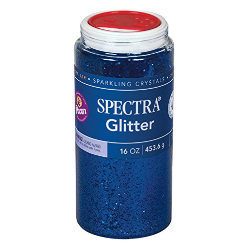 Pacon Spectra Glitter Sparkling Crystals, Blue, 16-Ounce Jar (91750) (Basic Glitter)