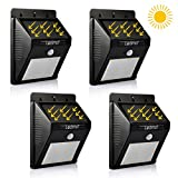 Solar Light LEDMO,12 Leds Wireless Waterproof Motion Sensor Outdoor Lighting For Garden,Driveway,Warm White (4 Pack)