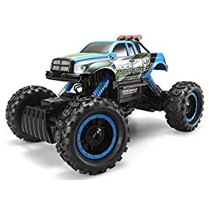 FSTgo RC Car Rock Crawler 2.4Ghz 4WD 1/14 Off-Road Electric Racing Truck Toy for Kids with LED Headlights (Blue)