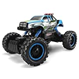 #5: FSTgo RC Car Rock Crawler 2.4Ghz 4WD 1/14 Off-Road Electric Racing Truck Toy for Kids with LED Headlights (Blue)