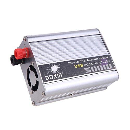 KKMOON 500W Watt DC 24V AC 220V + USB Portable Spannung Transformator Auto Wechselrichter