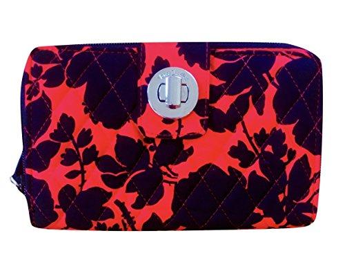 à Wallet Vera Lock Femme verrou BradleyTurn Silhouette tournant Floral Portefeuille qIIR1