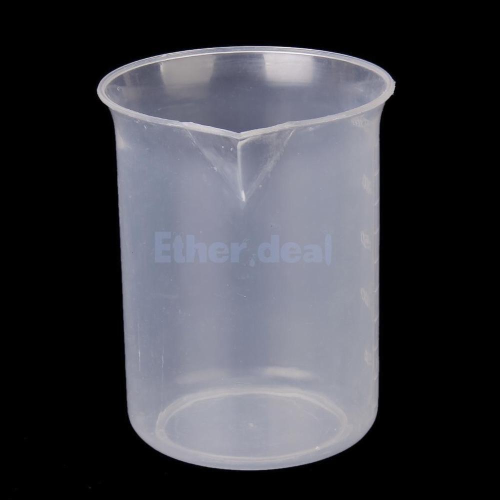 per mescolare resina epossidica Bruxells08 impilabile Cilindro graduato in plastica trasparente da laboratorio misuratore accurato macchie 250 ml casuale vernice