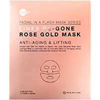 Skin Inc Facial In A Flash Lines Be-Gone Rose Gold Mask, 1ct