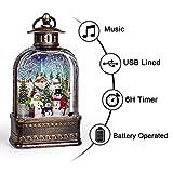 GYMAOYI Musical Snow Globe Lantern Christmas Snow