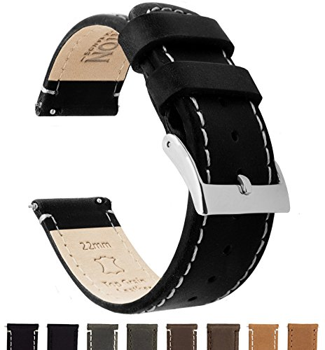 BARTON Quick Release Top Grain Leather Watch Band - Leather Watch Bands For Women