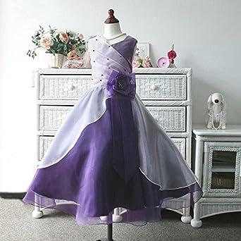 f3557185486d1 子供ドレス サフラン(ダークパープル&ホワイト) バイカラー演奏会用ドレス