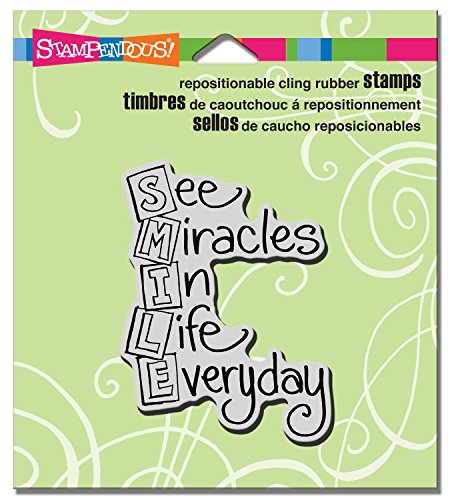 Stampendous Cling Rubber Stamp  Smile Acronym