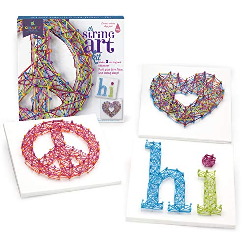 51xvg2%2BjgIL - Craft-tastic – Peace Sign String Art Kit – Craft Kit– Arts and Crafts for Tweens and Teens l Makes 3 Large String Art Canvases – Easy to Use – Ages 10+