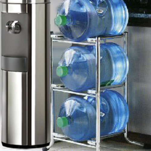 Chrome Water Bottle Caddy Rack (Water Bottle Storage 5 Gallon compare prices)