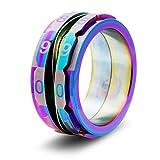 Critsuccess Life Counter Rainbow Dice Ring (Size 12)