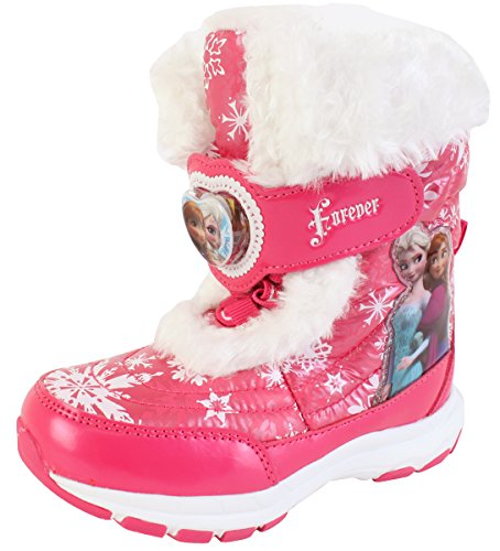 Disney Frozen Elsa Anna Forever Girls Winter Warm Pink Snow Boots Costume Shoes (Parallel Import/Generic Product) (11 M US Little (Anna Frozen Running Costume)