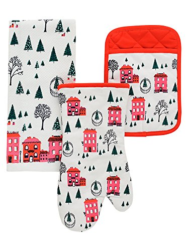 3 piece kitchen set drop leaf dining kate spade new york piece kitchen set holiday village amazoncom