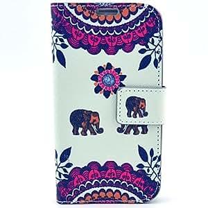 GDW Teléfono Móvil Samsung - Carcasas de Cuerpo Completo/Fundas con Soporte - Gráfico/Diseño Especial - para Samsung S4 I9500 Plástico/Cuero PU )