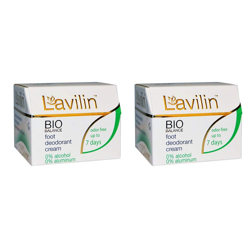 Lavilin Foot Care Award Winning Foot Deodorant Cream, 12.5 Grams (2 Pack)