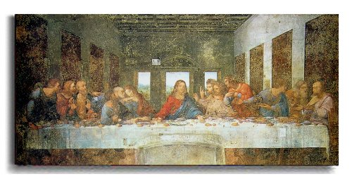 Last Supper by Da Vinci Premium Stretched Canvas with Hand-Painted Edging (Ready-to-Hang) (Brown-Edging)