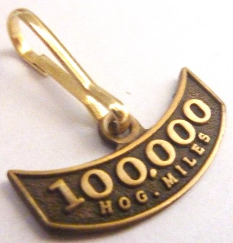 Harley Davidson HOG Motorcycle Mileage Rocker 100K 100000 Miles Replica ZIPPER PULL CLIP