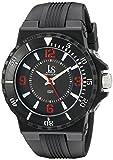 Joshua & Sons Men's JS-38-RD Bold Swiss Quartz Silicon Strap Watch