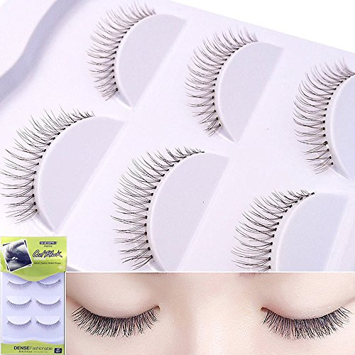 Coohole Professional Man-made Makeup Individual Cluster Eye Lashes Grafting For Cosplay Halloween Party (3 Pair, Brown) (Mascara Brown Luscious)