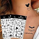 20Pcs/Lot Waterproof Lovely Super Cute Butterfly Cross Pattern Design Temporary Tattoo Stickers