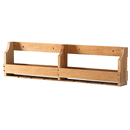 Amazon.com: PM-Borders MEGU Wine Shelf,Solid Wood Wall Shelf Wall ...