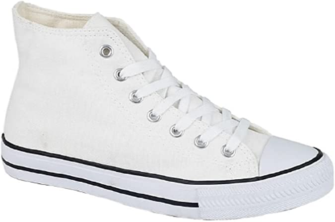 *SALE* Spot On X0002 Men/'s Navy Lace Up Hi Rise Canvas Sneaker Shoes