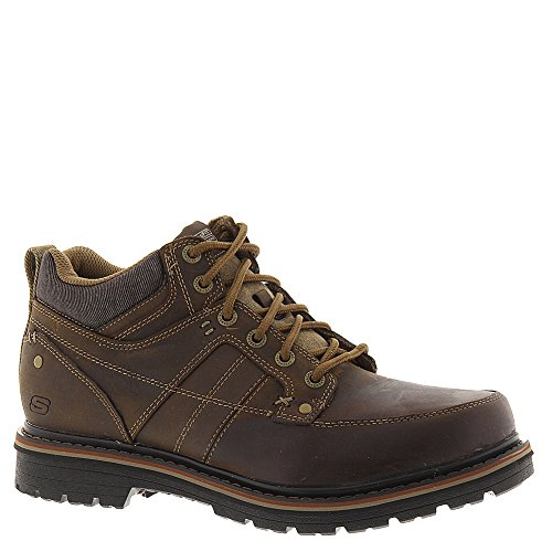 Skechers Relaxed Fit Marcelo Topel Mens Lace Up Boots Brown
