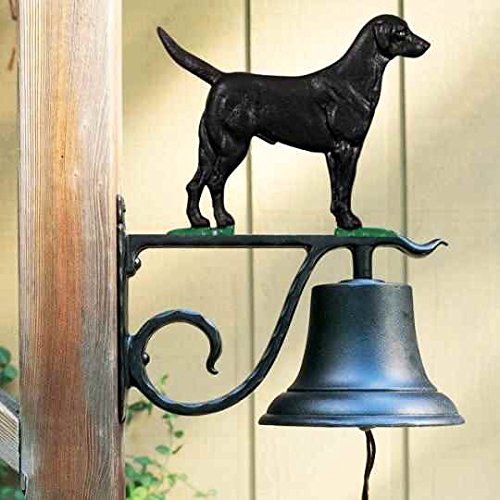 Whitehall Black Lab - Large Bell with Black Lab - Color