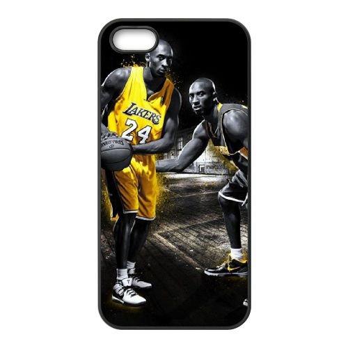 Kobe Bryant coque iPhone 5 5S cellulaire cas coque de téléphone cas téléphone cellulaire noir couvercle EOKXLLNCD25320