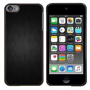Motif gris - Metal de aluminio y de plástico duro Caja del teléfono - Negro - iPod Touch 6