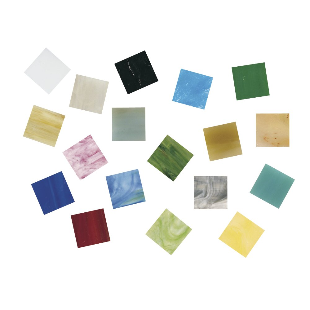 Glass RAYHER Mosaic Tiles Bucket for Arts and Crafts 1 Multi-Colour 1x1 cm