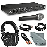 Focusrite Saffire Pro 40 Firewire Audio Interface Deluxe Kit W/ Variety of Cables, Samson Q7 Microphone, Tascam Headphones, FiberTique Cleaning Cloth