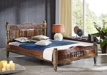 Massivmoebel24 De Massiv Holz Mobel Vintage Lackiert Bett 120x200
