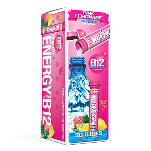Zipfizz Healthy Energy Drink Mix, Hydration with B12 and Multi Vitamins, Pink Lemonade, 20 Count ()