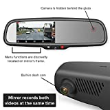 Master Tailgaters Rear View Mirror with Dual Camera HD DVR Dash Cam with Microphone + WiFi app
