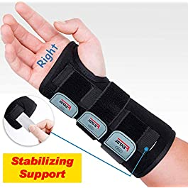 Wrist Brace for Carpal Tunnel, Adjustable Wrist Support Brace with Splints Right Hand, Small/Medium, Arm Compression…