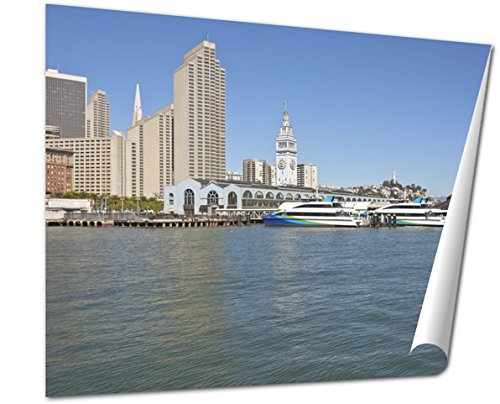 Ashley Giclee Fine Art Print, San Francisco Bay Terminal And Ferries, 16x20, - Francisco 3 San Terminal