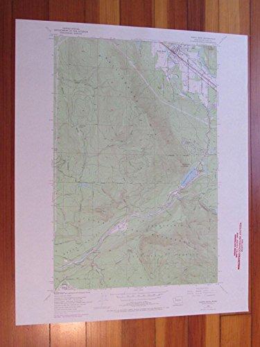 North Bend Washington 1969 Original Vintage USGS Topo ()