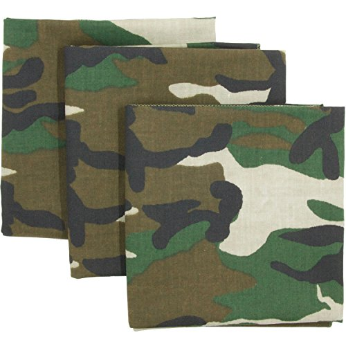 - Camo Bandana 3-Pack - Made in USA For 70 Years - Sold by Vets – Sewn Edges