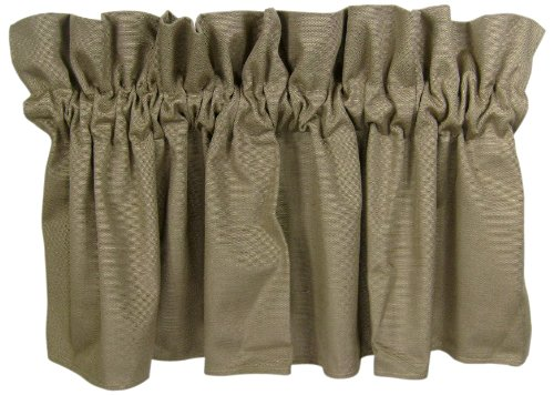 Set of 2 18 by 54-Inch Chocolate American Mills 44983.205 Slub Valance