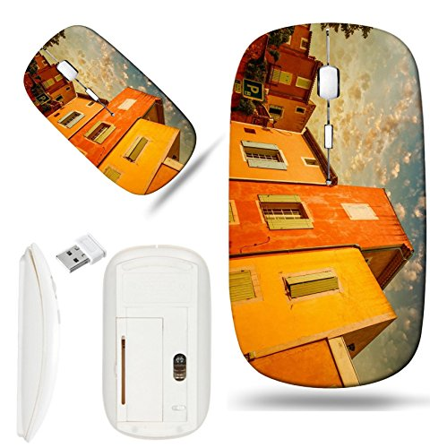 Luxlady Wireless Mouse White Base Travel 2.4G Wireless Mice with USB Receiver, 1000 DPI for notebook, pc, laptop, macdesign IMAGE ID: 25822822 Colourful homes of Roussillon Provence France