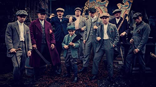 HandTao Peaky Blinders British Crime Drama Serie de TV Tela Tela Cartel de la pared Impresión de la foto 24x13 pulgadas