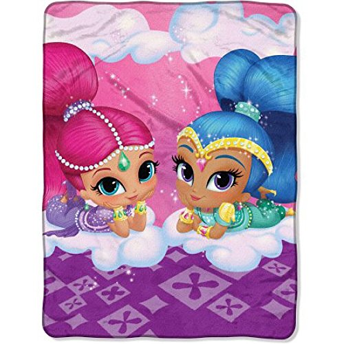 Nickelodeon's Shimmer and Shine Micro Rachel Throw Blanket (Rachel Sham Pillow)