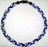 "20"" Titanium Sports Necklace - Blue/white/black"