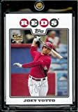 2008 Topps Baseball Cards # 319 Joey Votto (RC) - Cincinnati Reds - MLB Baseball Rookie Card in a Protective Screw Down Display Case