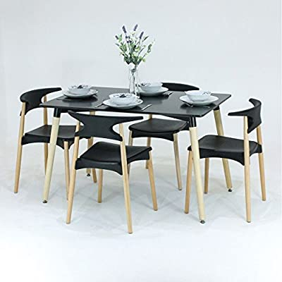 Super Pn Homewares Basilio Dining Table Chairs Set 4 Chairs 1 Caraccident5 Cool Chair Designs And Ideas Caraccident5Info