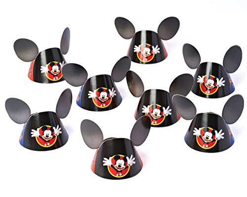Mickey Mouse Clubhouse Party Hat, Mickey Ears, 8 Count, Party Supplies -