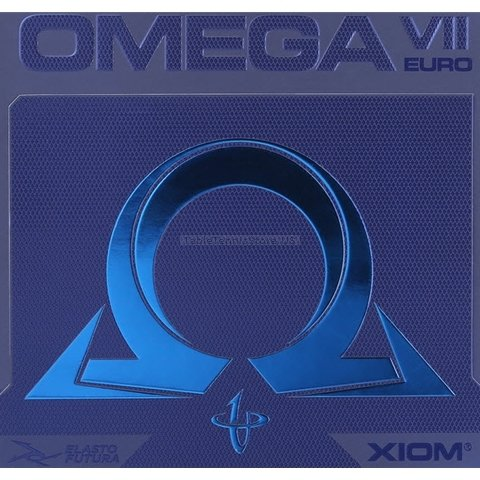 XIOM Omega VII 7 Euro - Offensive Table Tennis Rubber - Black 2.0mm by Xiom Omega